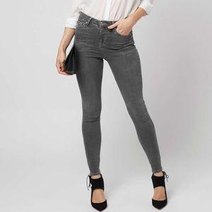 Topshop Jamie gray skinny jeans!!